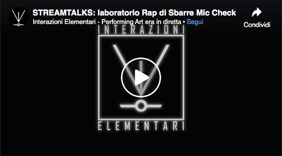 Talk Sbarre Mic Check