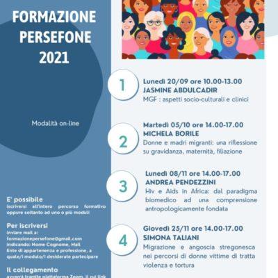 formazione Consultorio Persefone 2021